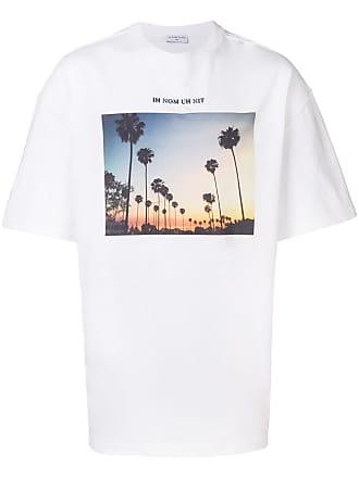 Ih Nom Uh Nit sunset palms print T-shirt - White
