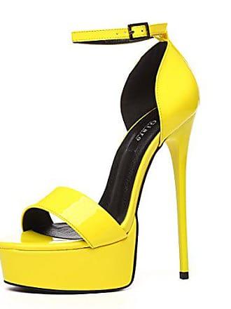 ea2a048f7a4 Giaro Sandaletten in Übergrößen Gelb Galana Yellow 1002 große Damenschuhe