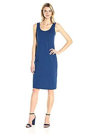 Joan Vass Womens Tank Stretch Pique Dress, Azure, XS