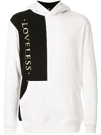 Loveless Moletom com bolso canguru e capuz - Branco