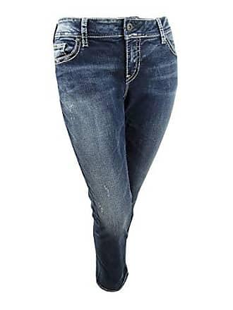 57070589256 Silver Jeans Co Womens Plus-Size Plus Size Suki Curvy Fit Mid Rise Straight  Leg