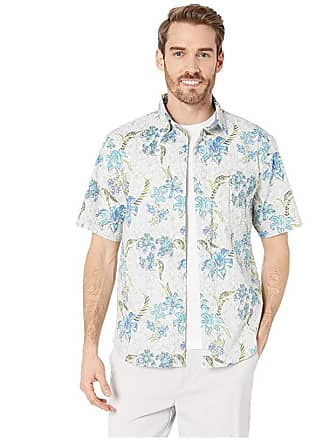 9640c386 Tommy Bahama Tahitian Etch Stretch-Cotton Camp Shirt (Continental) Mens  Clothing