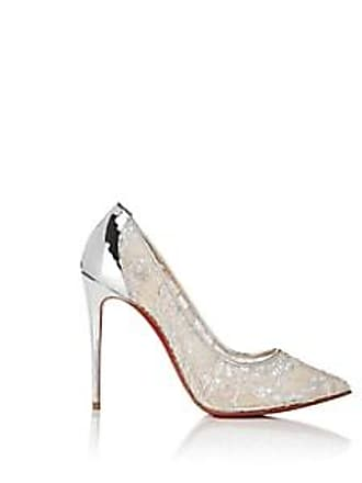c8d0c932d74b Christian Louboutin Womens Follies Lace Pumps - Version Silver Size 7