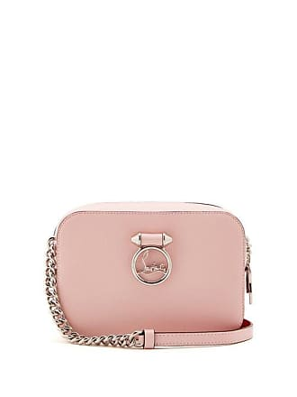 Christian Louboutin Rubylou Leather Cross Body Bag - Womens - Light Pink