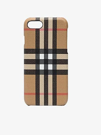 Burberry Multicolour Check Leather iPhone Case 8
