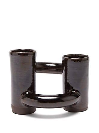 Lily Pearmain Dancing Doughnut Vase - Black