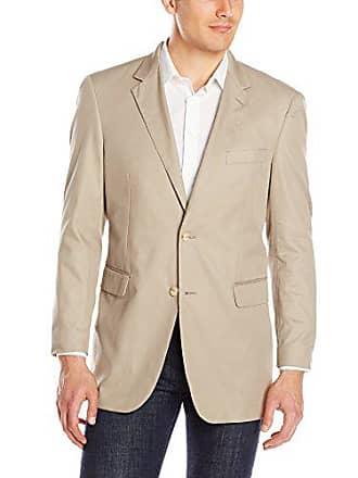 Nautica Mens 2 Button Center Vent Suit Separate Jacket, Khaki, Long/48