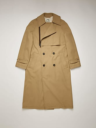 Acne Studios FN-MN-OUTW000354 Mushroom beige Cotton-canvas trench coat