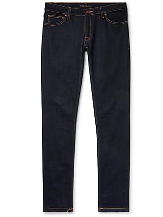 Nudie Jeans Skinny Lin Organic Stretch-denim Jeans - Dark denim