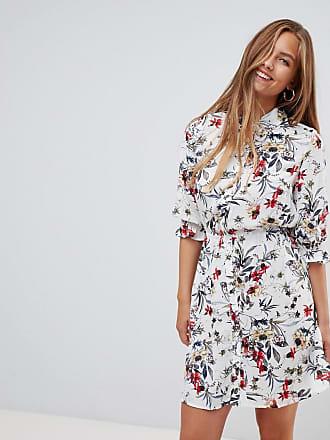 Gilli Vestito camicia con stampa a fiori - Crema 2108415bf67