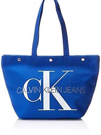 3e5f3aa68c Calvin Klein Jeans Canvas Utility Ew Bottom Tote M - Borse Donna, Blu  (NAUTICAL