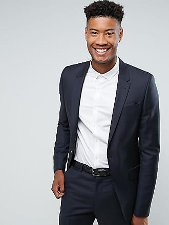 Asos ASOS - TALL - Kostymjacka med smal passform i 100 % ull - Marinblå bbc90a15b6121