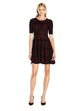 440371b505 Ivanka Trump Womens Knit Short Sleeve Fit and Flare Sweater Dress