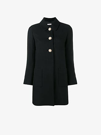 Miu Miu flower embellished coat