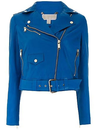 Michael Michael Kors Jaqueta biker de couro - Azul