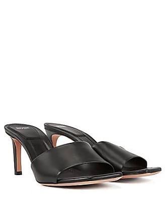 ce0dd04a12cd BOSS Open-toed mules in Italian calf leather