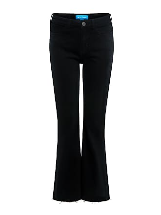 Mih Jeans Lou Cropped Flare Jeans Black