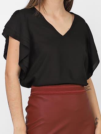 Vero Moda Blusa Vero Moda Drapeados Preta
