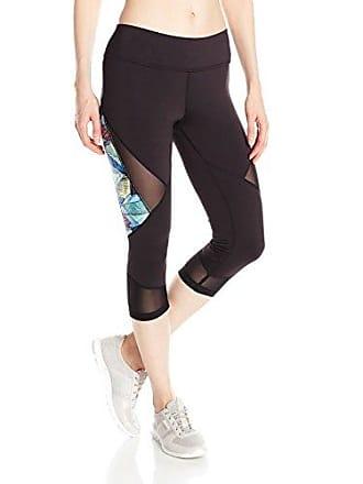 5a49620ea7a74 PL Movement by Pink Lotus Womens World Beat Amazon Print/Solid Performance  Capri Legging,