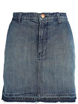 b9ee0c4db8 J Brand J Brand Woman Frayed Denim Mini Skirt Dark Denim Size 23