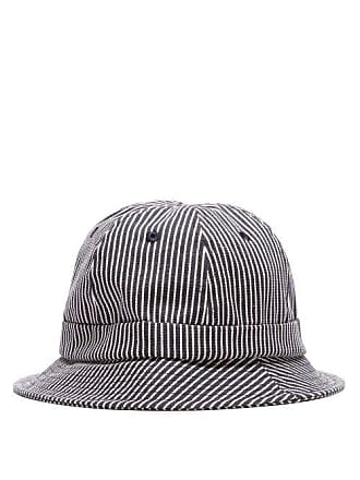 Holiday Boileau Striped Cotton Canvas Bucket Hat - Mens - Navy Multi