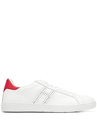 Hogan perforated logo sneakers - White