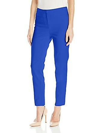 Ellen Tracy Womens Welt Pocket Slim Pant, Azure, 16