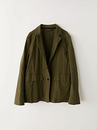 Acne Studios FN-MN-SUIT000017 Hunter green Soft blazer jacket