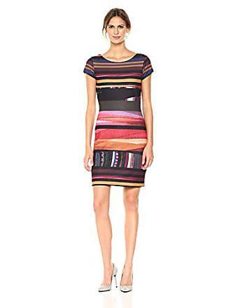 Desigual Womens Second Woman Knitted Short Sleeve Dress, Burgundy, XL