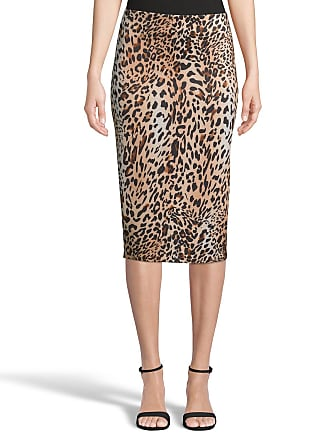 5twelve Cheetah-Print Straight Scuba Skirt