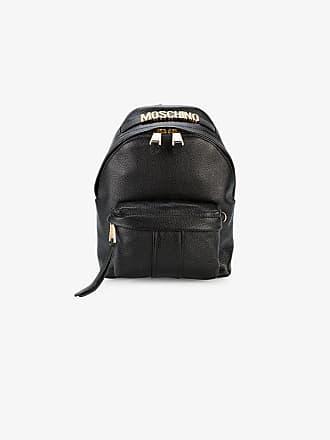 Moschino Black Logo mini leather backpack