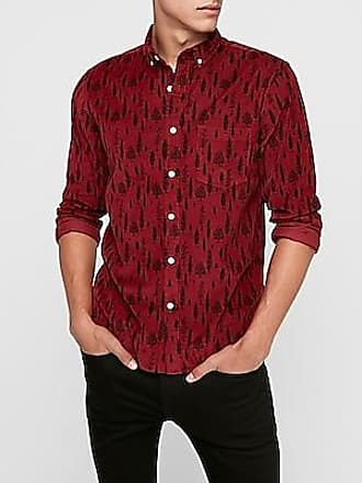 pipigo Men Basic Denim Chest Pocket Long Sleeve Cotton Button Down Shirts