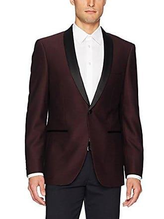U.S.Polo Association Mens Dinner Jacket, Burgundy Poly Blend, 42 Long