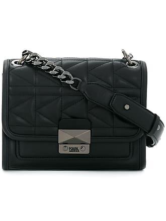 Karl Lagerfeld Bolsa transversal de couro - Preto