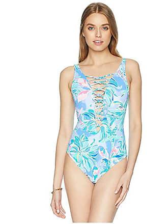 eb49daab4f817 Lilly Pulitzer Isle Lattice One-Piece Swimsuit (Bennet Blue Celestial Seas) Womens  Swimsuits