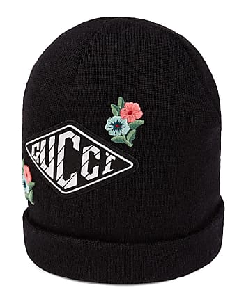 Gucci Kids Wool Knit Beanie Hat w  Flower   Game Patches db7e371d394d