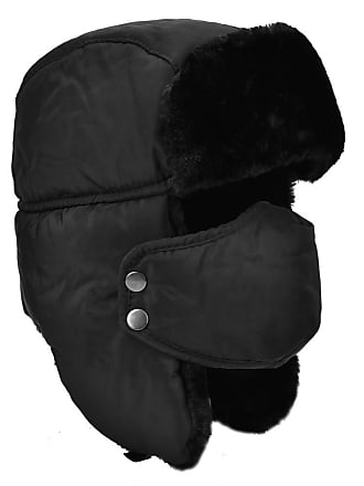 c2984e27a8e3ba Byou Bomber Hat,Winter Ear Flap Unisex Black Waterproof Thermal Warm  Trooper Trapper Hat with