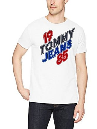 6cc7277f5 Tommy Hilfiger Tommy Jeans Mens T Shirt Short Sleeve Graphic Logo Tee, White,  Large