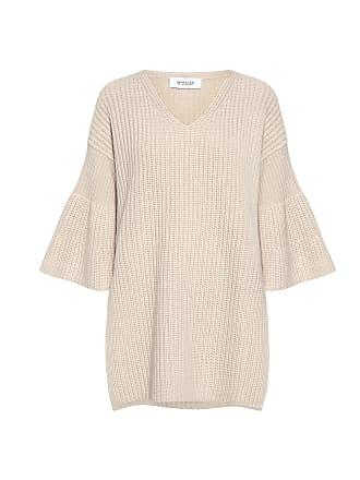 Derek Lam Bell Sleeves V-neck Tunic Sweater Ivory