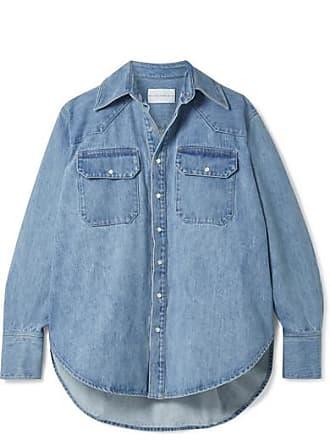 Matthew Adams Dolan Oversized Denim Shirt - Blue