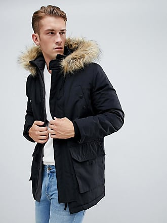 New Look traditional parka jacket in black - Black