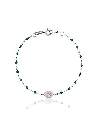 Gigi Clozeau Pulseira de ouro branco com diamante - Verde