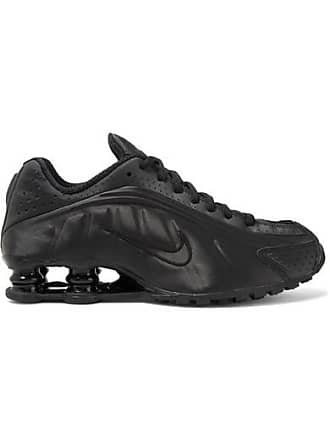 Nike Shox R4 Mesh-trimmed Shell Sneakers - Black
