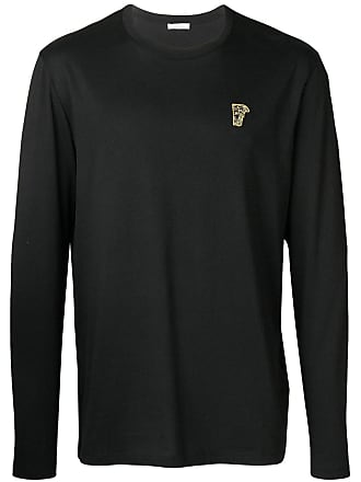 33d7dfcce22 Versace Collection Medusa logo patch long sleeve T-shirt - Black