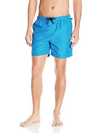 5862d0ed1b Original Penguin Mens Geo Print Elastic Waist Volley Swim Trunk, Directoire  Blue, Large