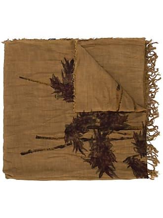 Uma Wang nature print scarf - Brown