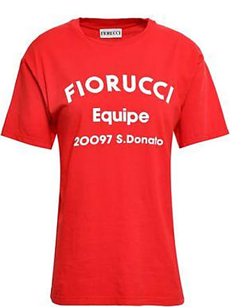 98803a08652 Fiorucci Fiorucci Woman Printed Cotton-jersey T-shirt Red Size M