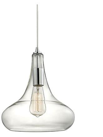 Elk Lighting Elk Lighting Orbital 13.8 in. 1 Light Pendant Oil Rubbed Bronze/Amber Teak - 10432/1