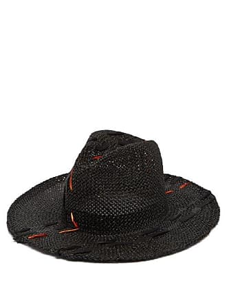 45386a7ec0a Reinhard Plank Norma Topstitched Woven Paper Hat - Womens - Black