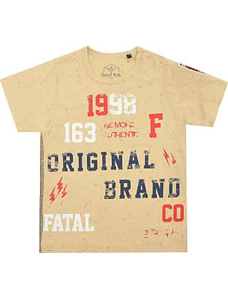 Fatal Surf Camiseta Fatal Surf Manga Curta Menino Amarela 73b8d4bd9c944